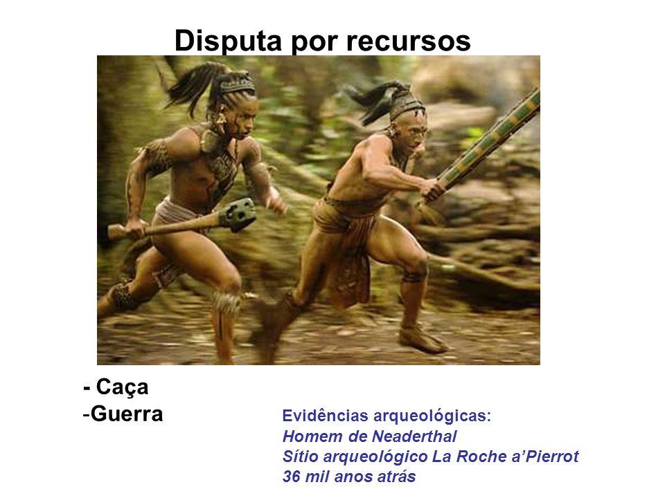 Disputa por recursos - Caça Guerra Evidências arqueológicas: