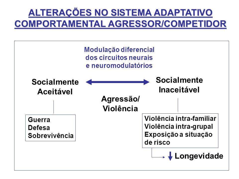 ALTERAÇÕES NO SISTEMA ADAPTATIVO COMPORTAMENTAL AGRESSOR/COMPETIDOR