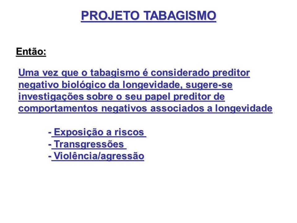 PROJETO TABAGISMO Então: