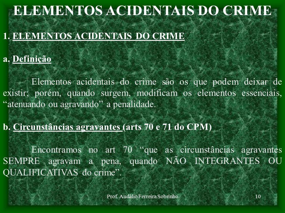 ELEMENTOS ACIDENTAIS DO CRIME