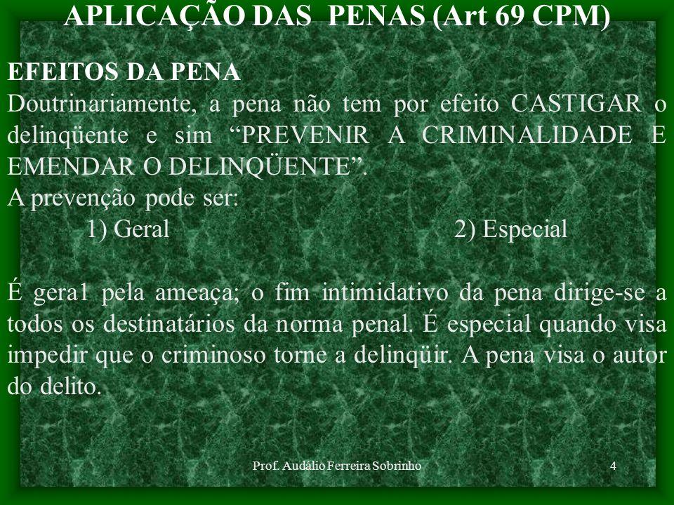 APLICAÇÃO DAS PENAS (Art 69 CPM)