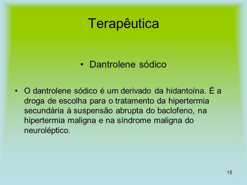 Terapêutica Dantrolene sódico