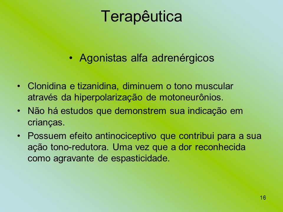 Agonistas alfa adrenérgicos