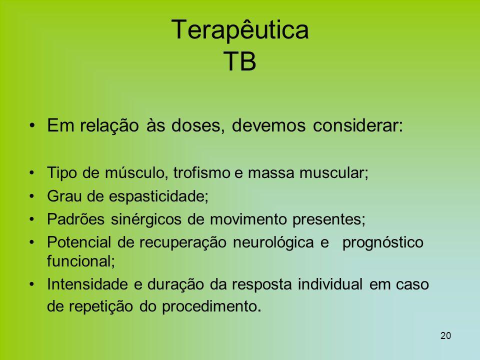 Terapêutica TB Em relação às doses, devemos considerar: