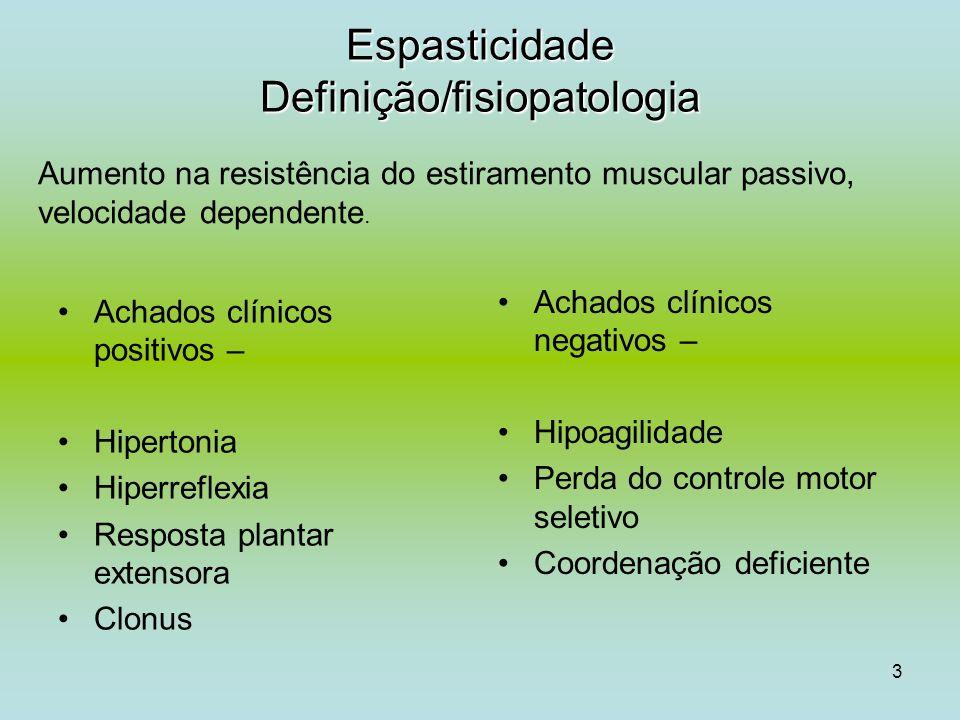 Espasticidade Definição/fisiopatologia