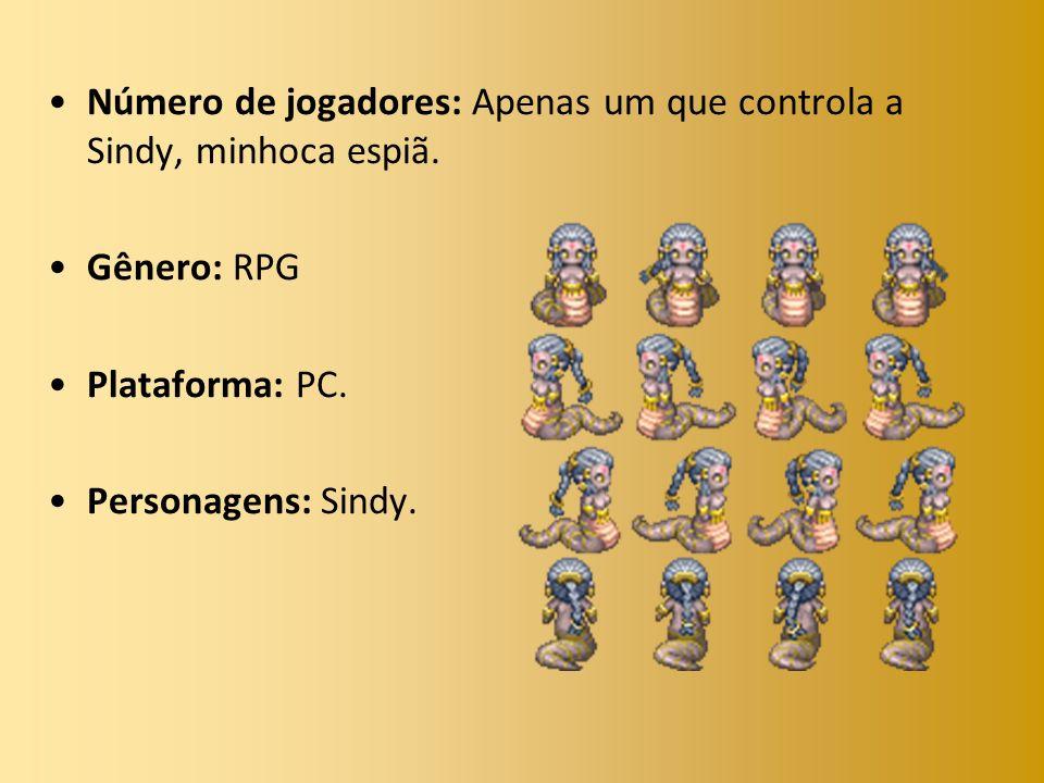 Número de jogadores: Apenas um que controla a Sindy, minhoca espiã.