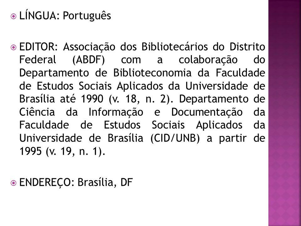 LÍNGUA: Português