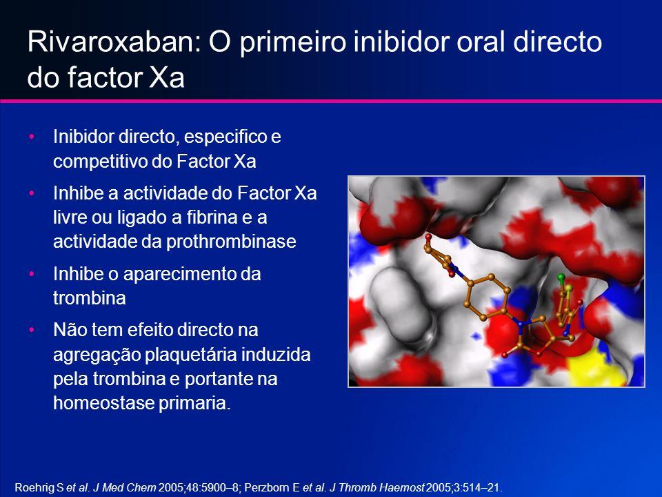 Rivaroxaban: O primeiro inibidor oral directo do factor Xa