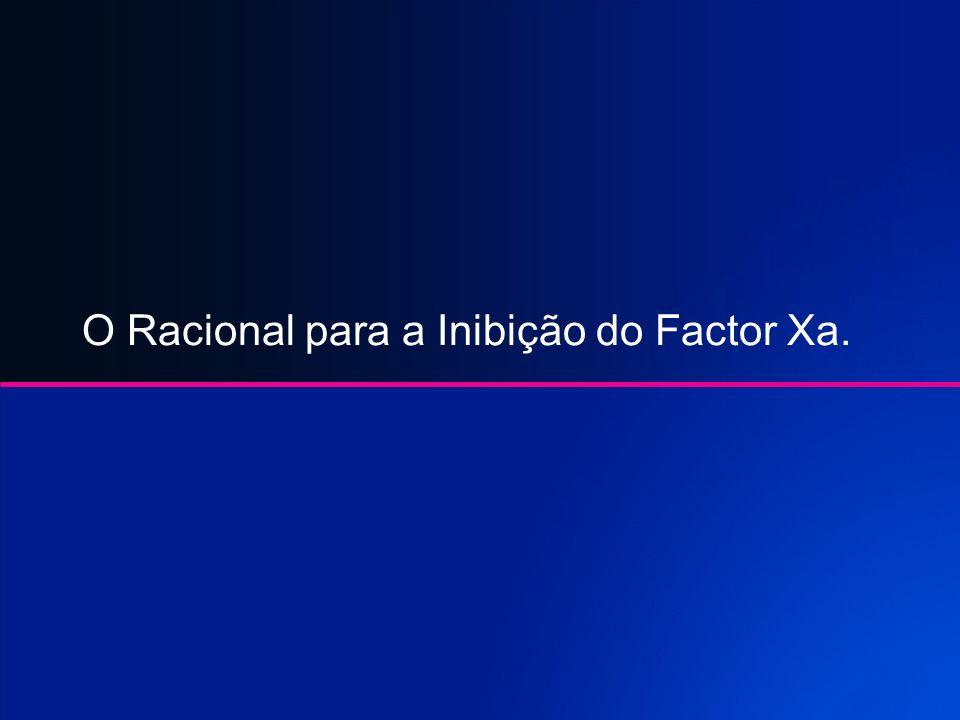 O Racional para a Inibição do Factor Xa.