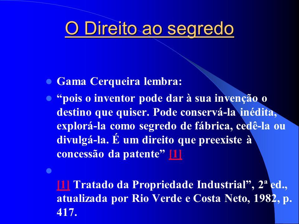 O Direito ao segredo Gama Cerqueira lembra: