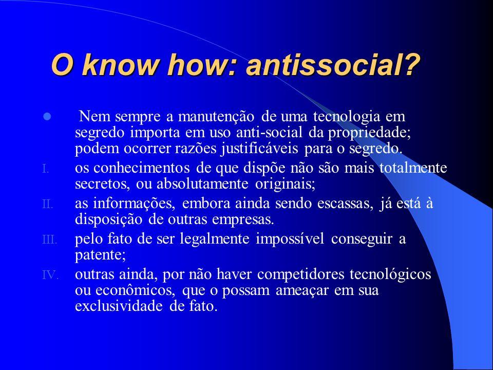 O know how: antissocial