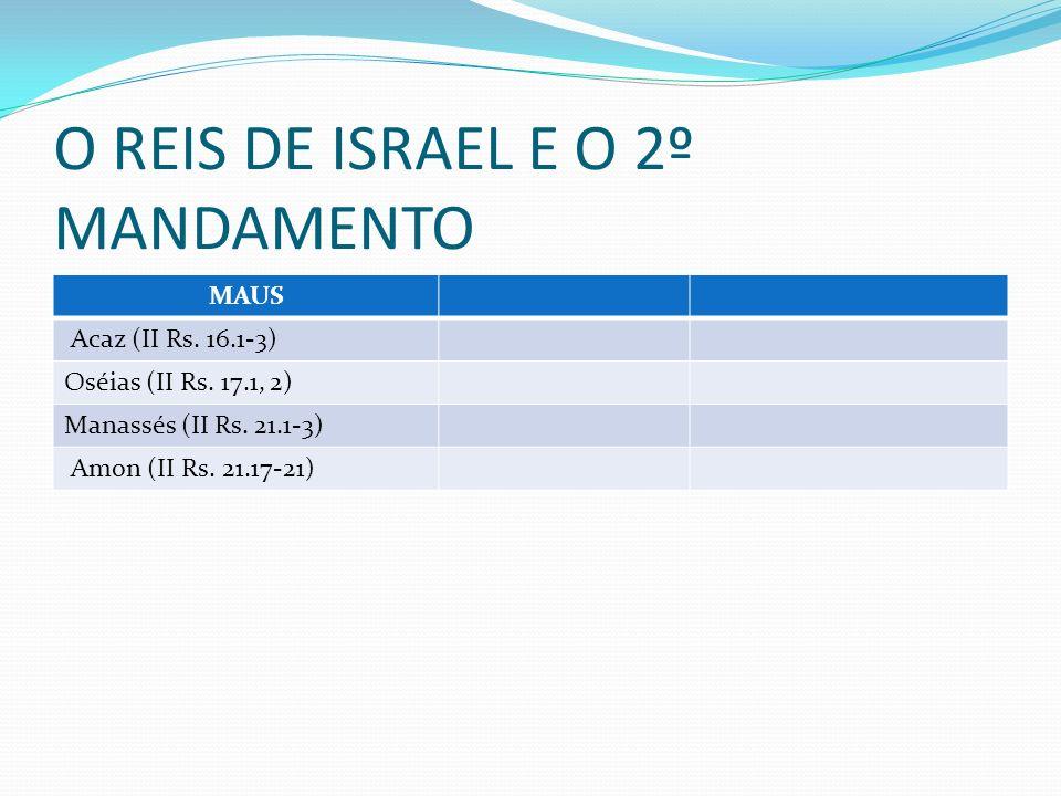 O REIS DE ISRAEL E O 2º MANDAMENTO