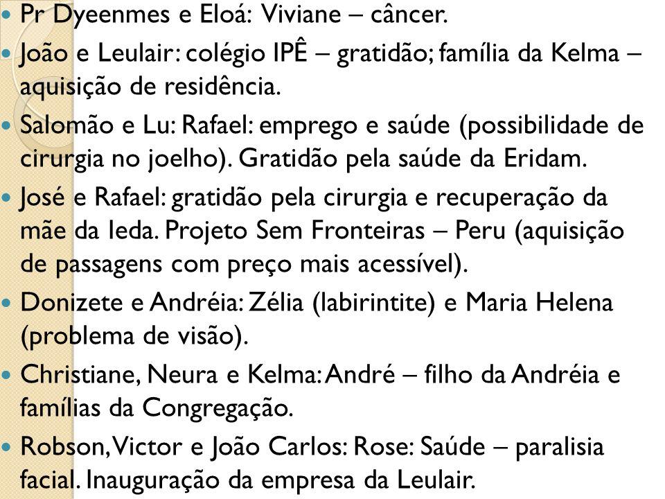 Pr Dyeenmes e Eloá: Viviane – câncer.