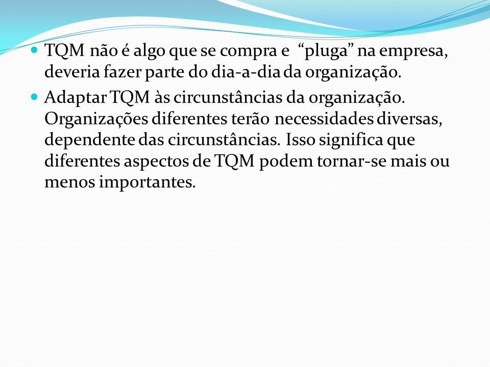 TQM não é algo que se compra e pluga na empresa, deveria fazer parte do dia-a-dia da organização.