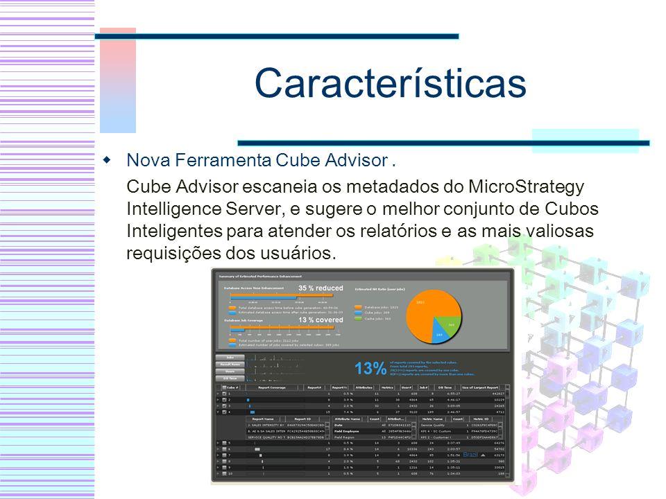 Características Nova Ferramenta Cube Advisor .