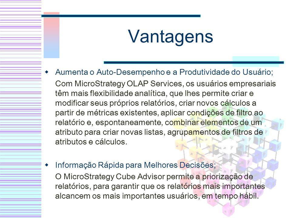Vantagens Aumenta o Auto-Desempenho e a Produtividade do Usuário;