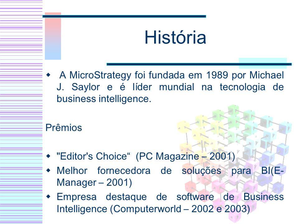 História A MicroStrategy foi fundada em 1989 por Michael J. Saylor e é líder mundial na tecnologia de business intelligence.