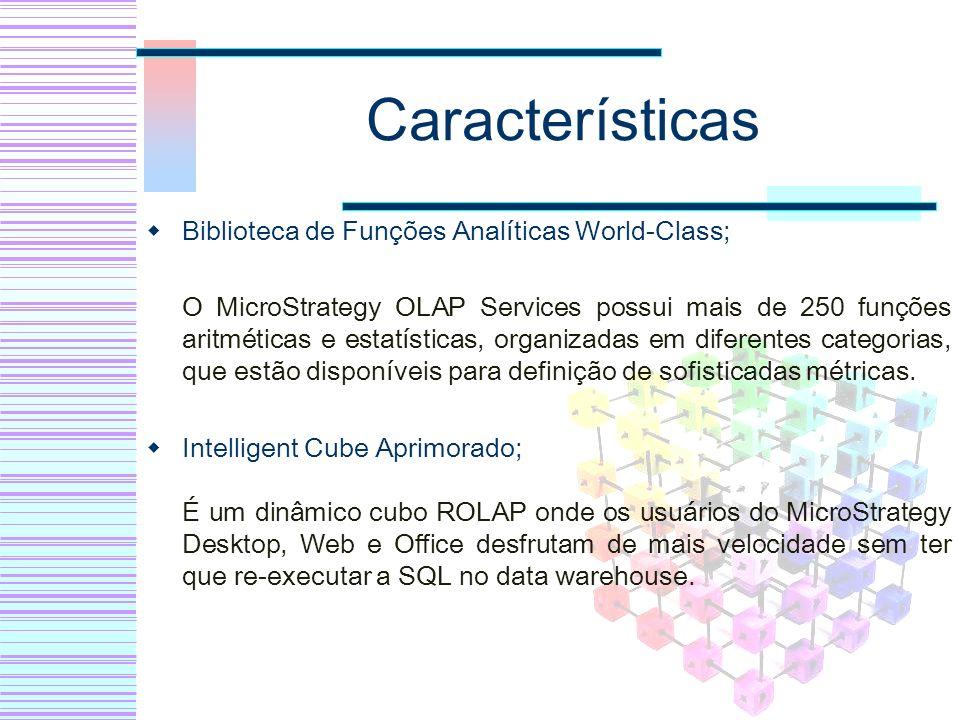 Características Biblioteca de Funções Analíticas World-Class