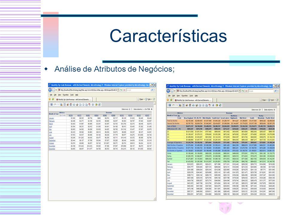 Características Análise de Atributos de Negócios;