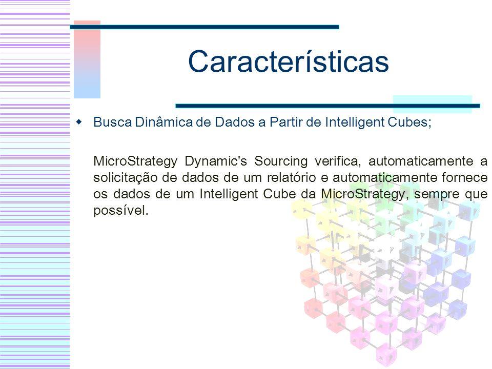 Características Busca Dinâmica de Dados a Partir de Intelligent Cubes;