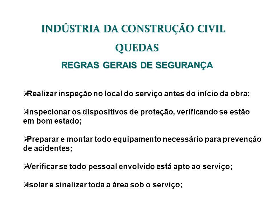 INDÚSTRIA DA CONSTRUÇÃO CIVIL REGRAS GERAIS DE SEGURANÇA