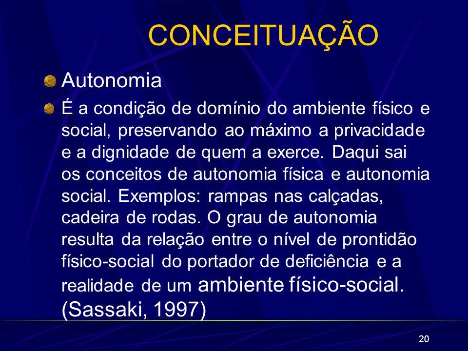 CONCEITUAÇÃO Autonomia