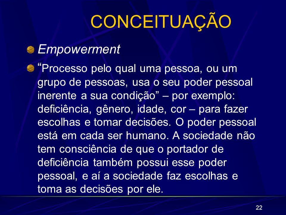 CONCEITUAÇÃO Empowerment