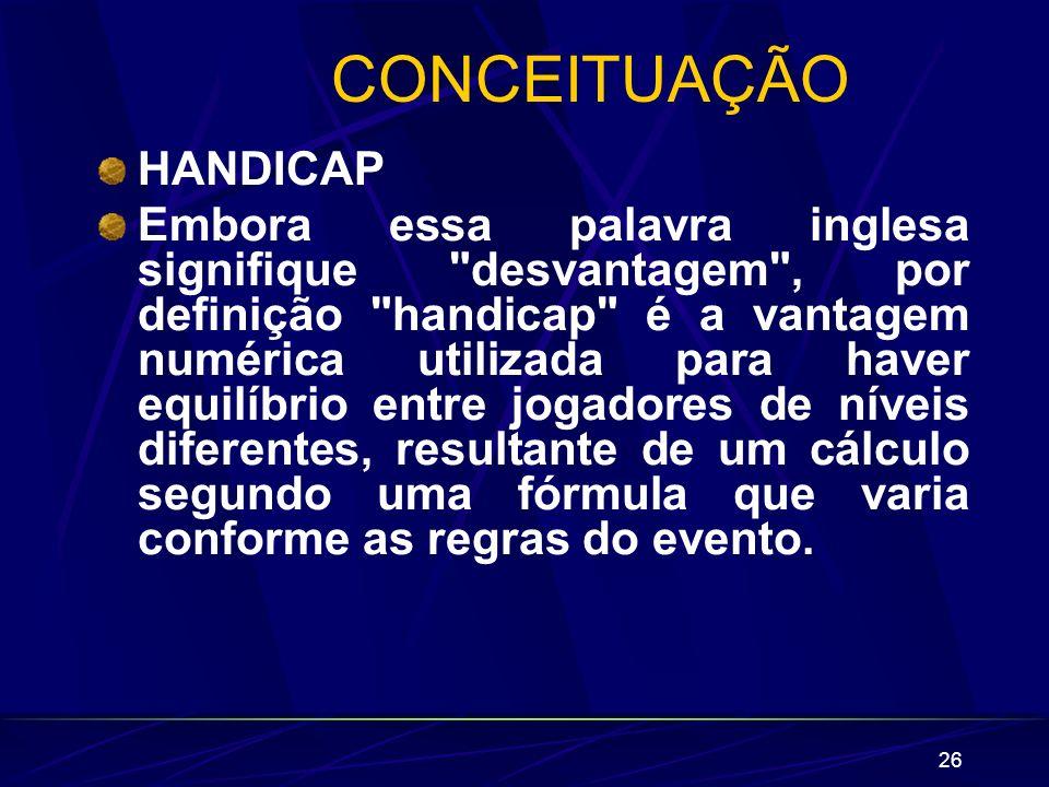 CONCEITUAÇÃO HANDICAP