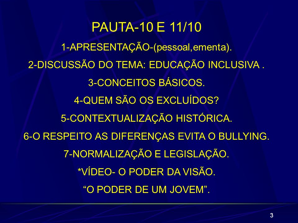 PAUTA-10 E 11/10 1-APRESENTAÇÃO-(pessoal,ementa).