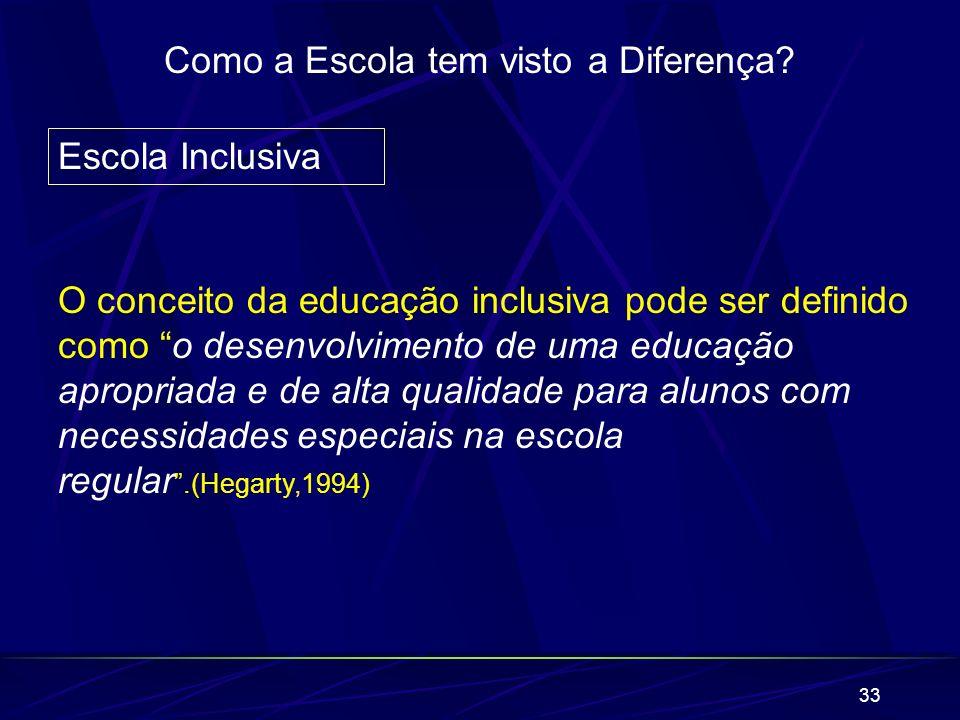 Como a Escola tem visto a Diferença