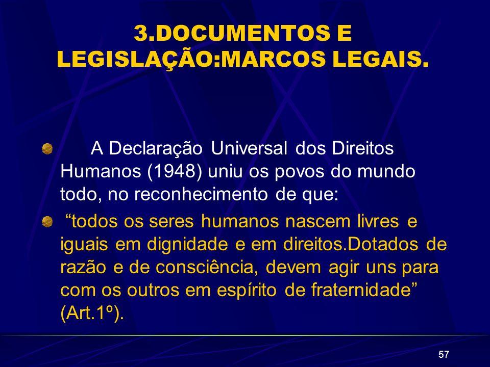3.DOCUMENTOS E LEGISLAÇÃO:MARCOS LEGAIS.