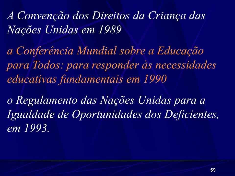 A Convenção dos Direitos da Criança das Nações Unidas em 1989