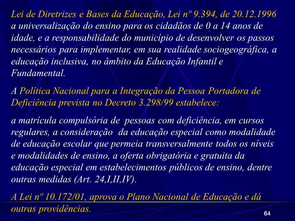 Lei de Diretrizes e Bases da Educação, Lei nº 9. 394, de 20. 12
