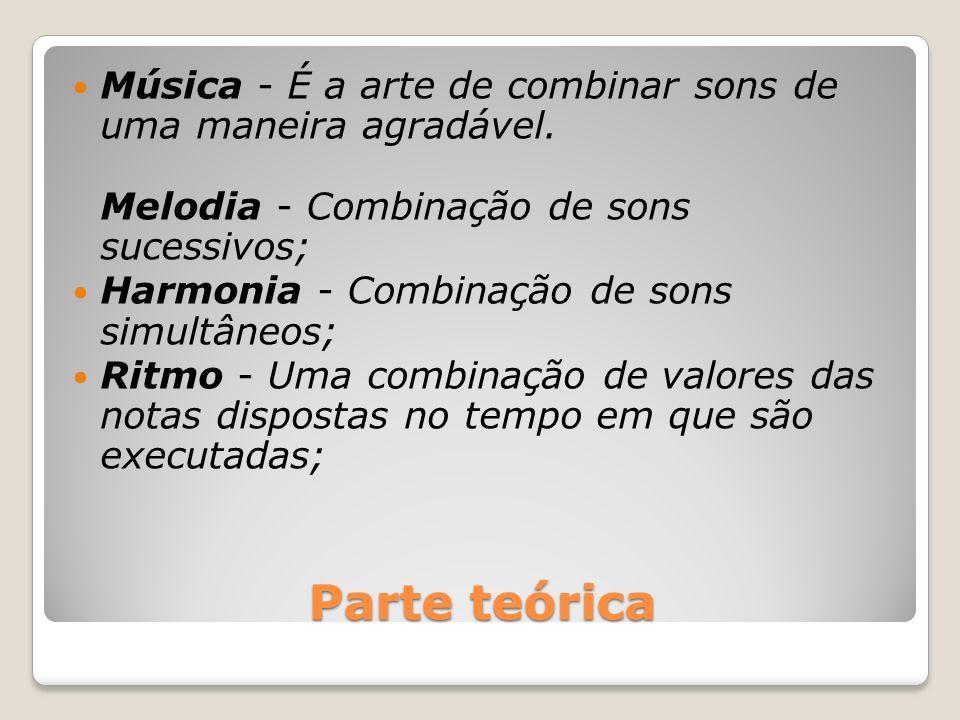 Música - É a arte de combinar sons de uma maneira agradável