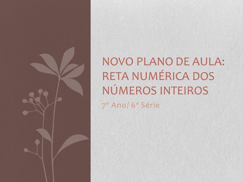 NOVO PLANO DE AULA: Reta Numérica dos Números Inteiros