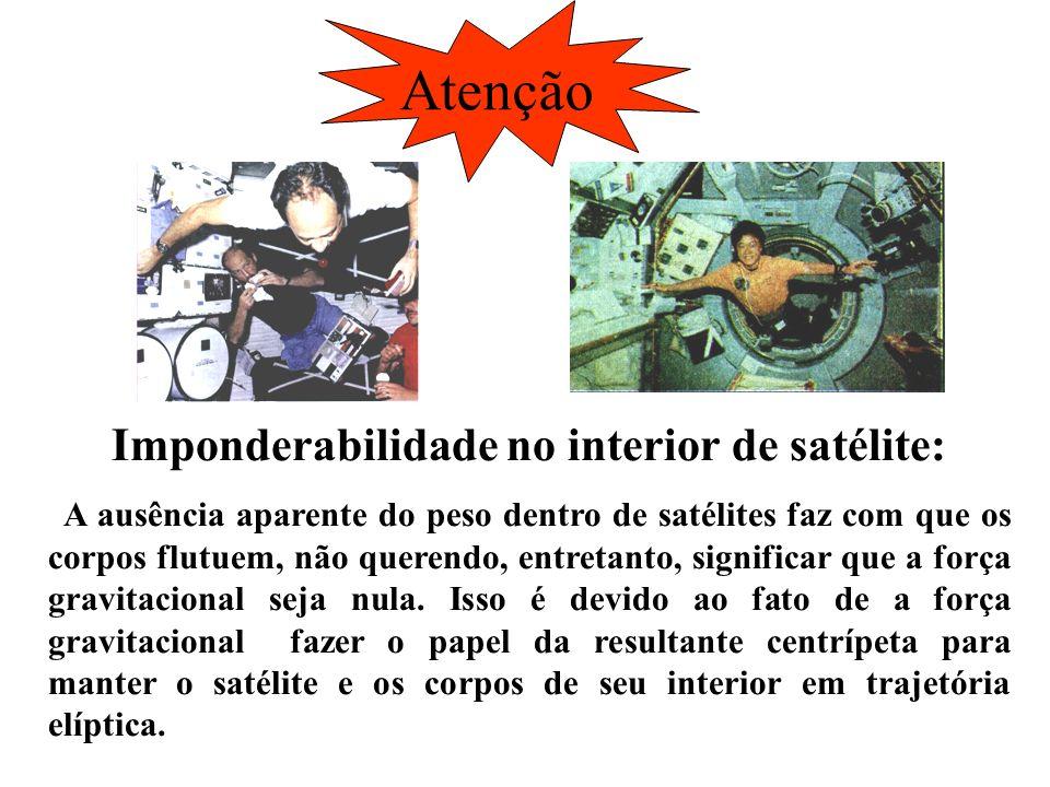 Imponderabilidade no interior de satélite: