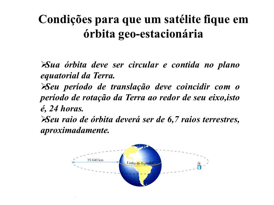 Condições para que um satélite fique em órbita geo-estacionária