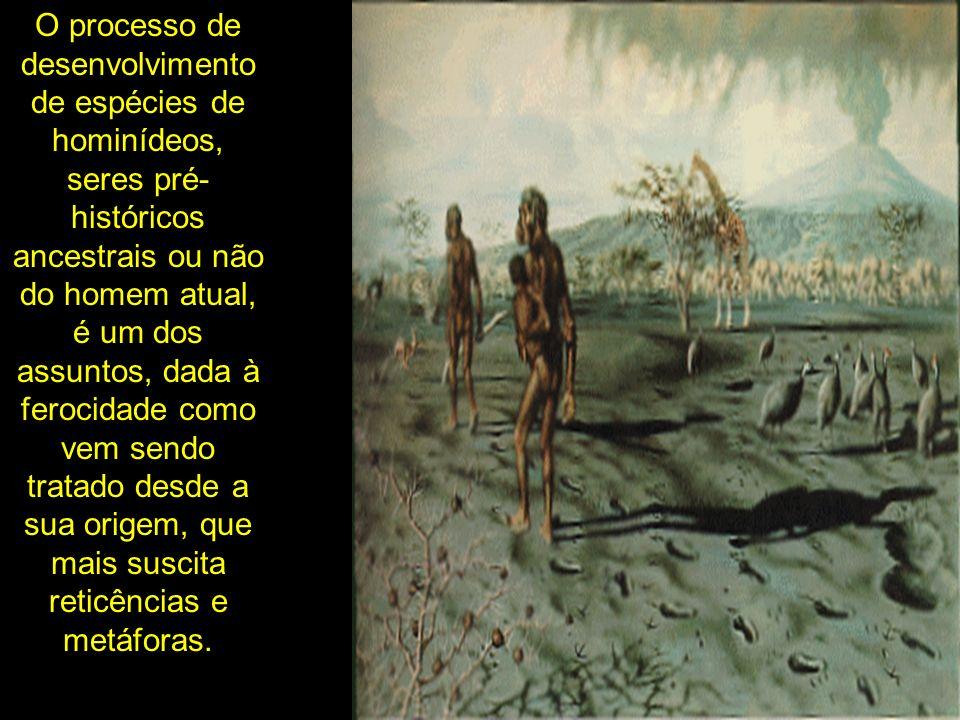 O processo de desenvolvimento de espécies de hominídeos, seres pré-históricos ancestrais ou não do homem atual, é um dos assuntos, dada à ferocidade como vem sendo tratado desde a sua origem, que mais suscita reticências e metáforas.
