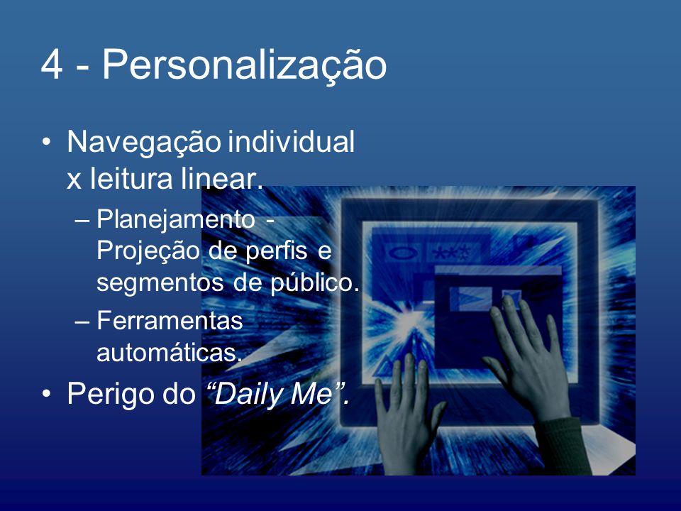 4 - Personalização Navegação individual x leitura linear.