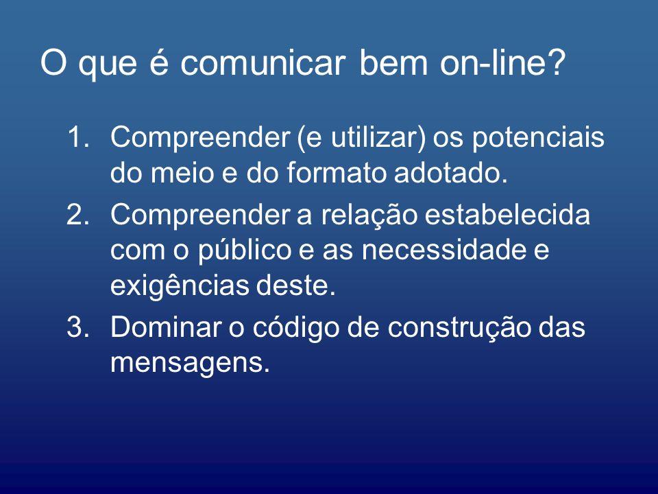 O que é comunicar bem on-line