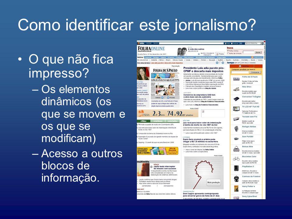Como identificar este jornalismo