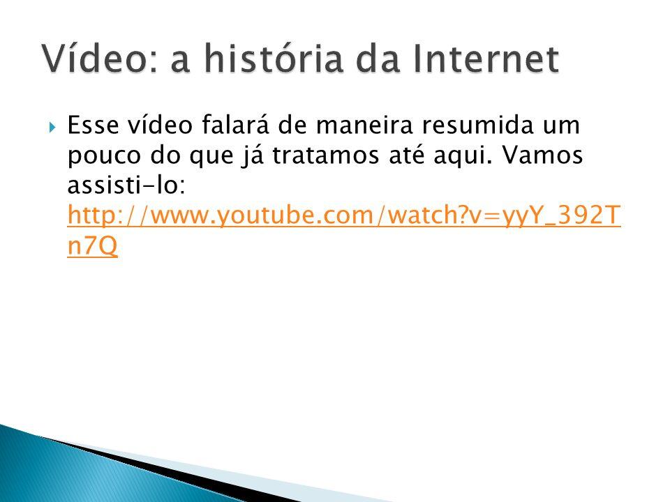 Vídeo: a história da Internet
