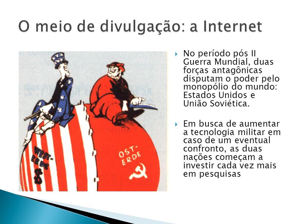 O meio de divulgação: a Internet