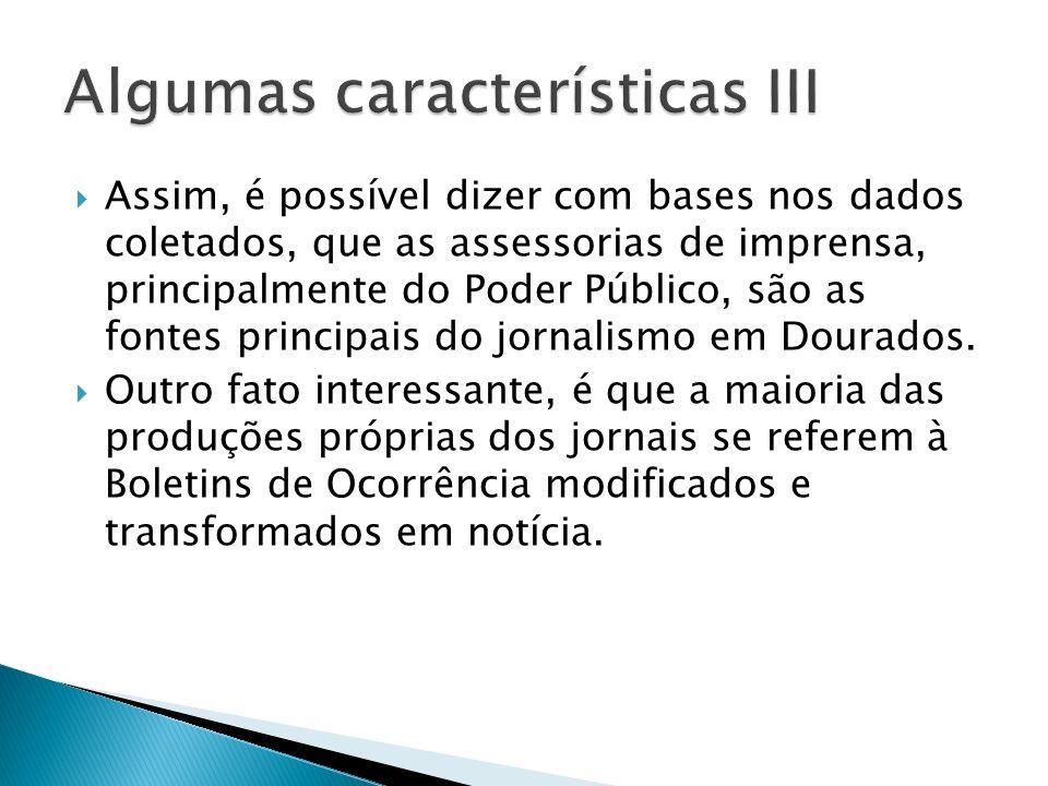 Algumas características III
