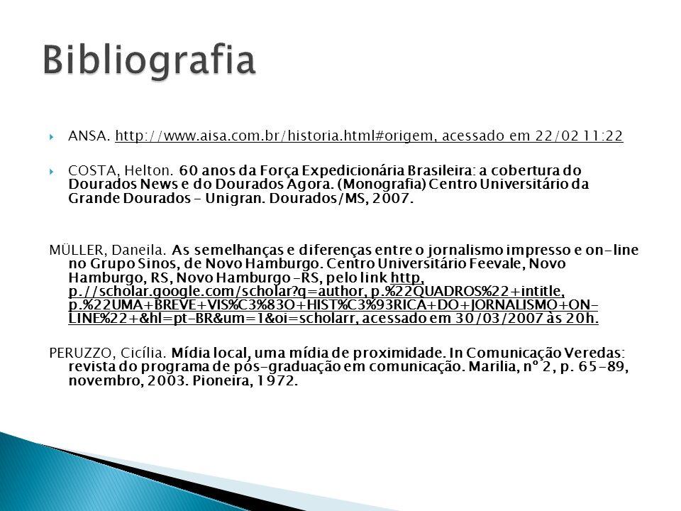 Bibliografia ANSA. http://www.aisa.com.br/historia.html#origem, acessado em 22/02 11:22.