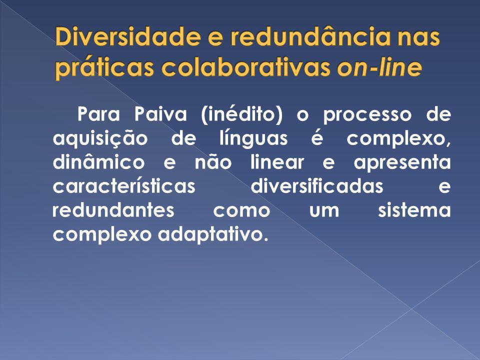 Diversidade e redundância nas práticas colaborativas on-line