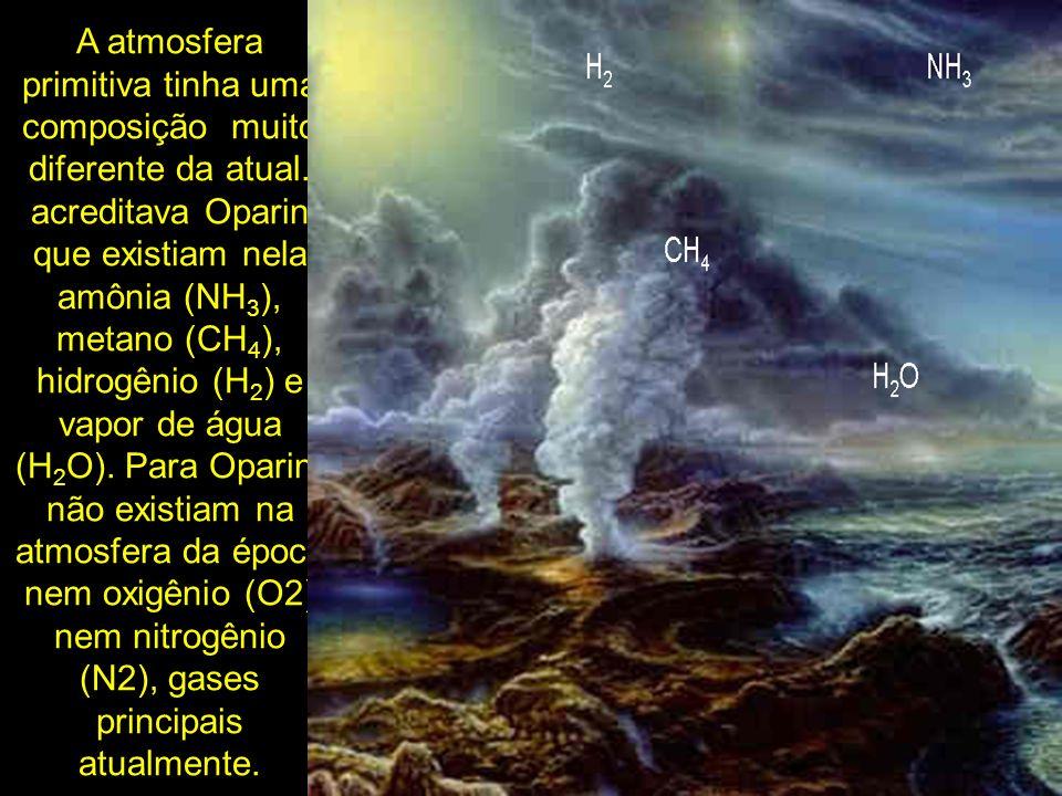 A atmosfera primitiva tinha uma composição muito diferente da atual