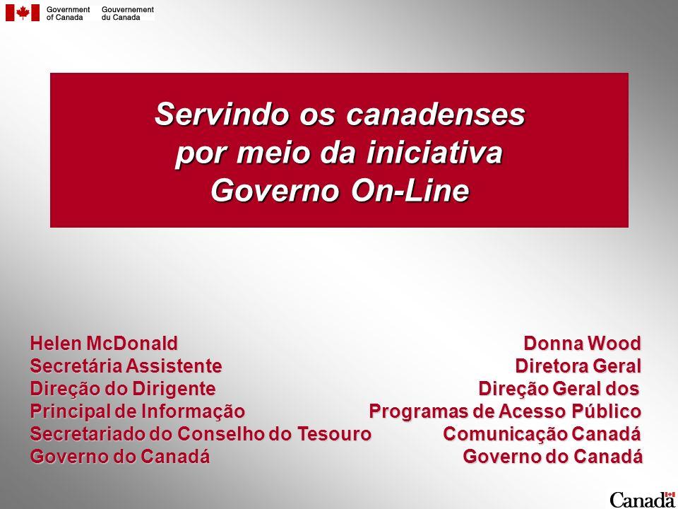 Servindo os canadenses por meio da iniciativa Governo On-Line