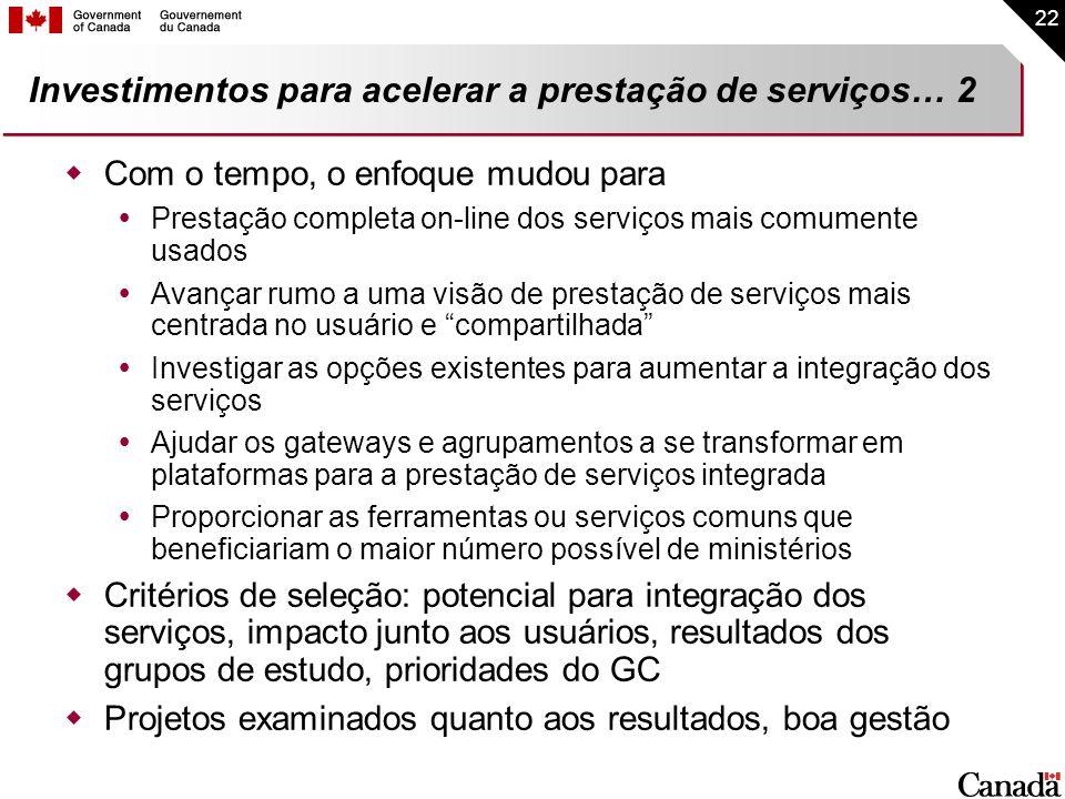 Investimentos para acelerar a prestação de serviços… 2