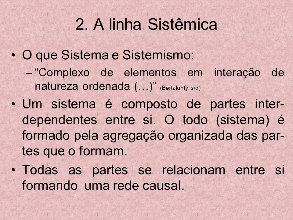 2. A linha Sistêmica O que Sistema e Sistemismo:
